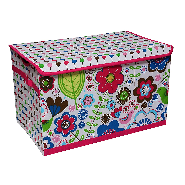 Bacati Botanical Aufbewahrungsbox f/ür Spielzeug Rosa