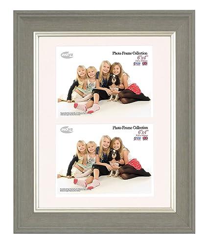 Inov8 12 x 20,32 cm tamaño grande British marco de fotos de madera ...