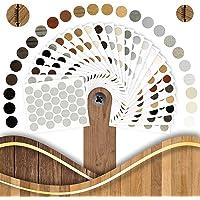 Zelfklevende afdekkappen Chamonix eiken diameter Ø14 mm, (50) stuks, beschermkappen voor meubels, zelfklevende…