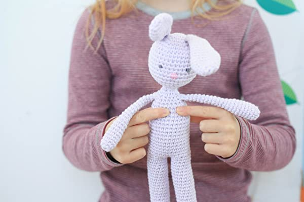 Crochet Bunny Baby toy, Bunny toy, handmade organic cotton crochet rabbit Height14 inches/35 cm baby shower gift, bunny nursery decor, Toddler soft bunny toy