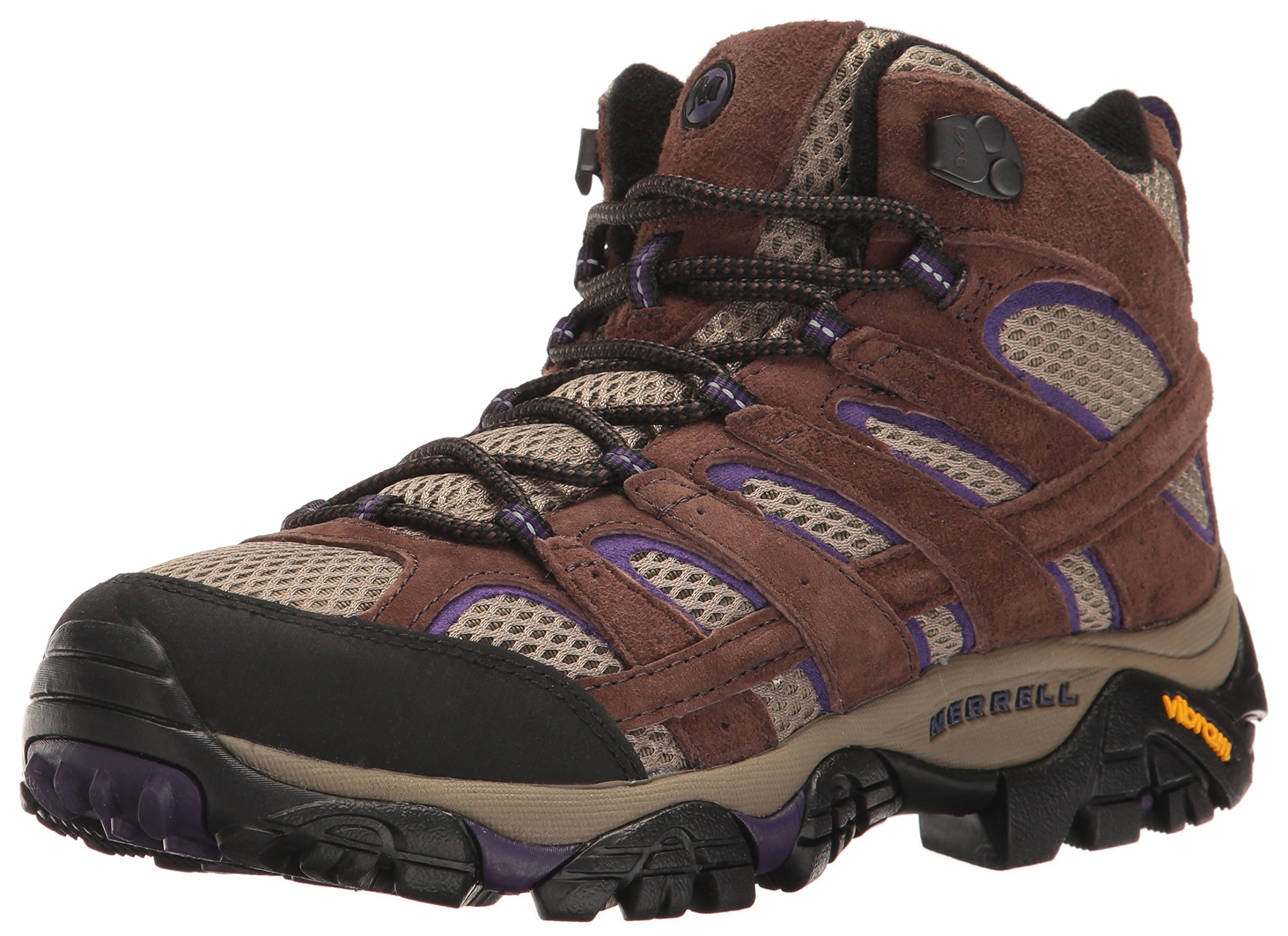Merrell Women's Moab 2 Vent Mid Hiking Boot, Bracken/Purple, 9 M US