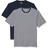Amazon Essentials Paquete de 2 Camisetas de Cuello Redondo Holgado Camiseta para Hombre