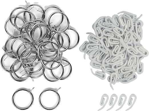 alsero anillos de metal para las cortinas y Kit de ganchos de ...