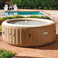Intex 28425E 77in PureSpa Inflatable Spa, 4-Person, Tan