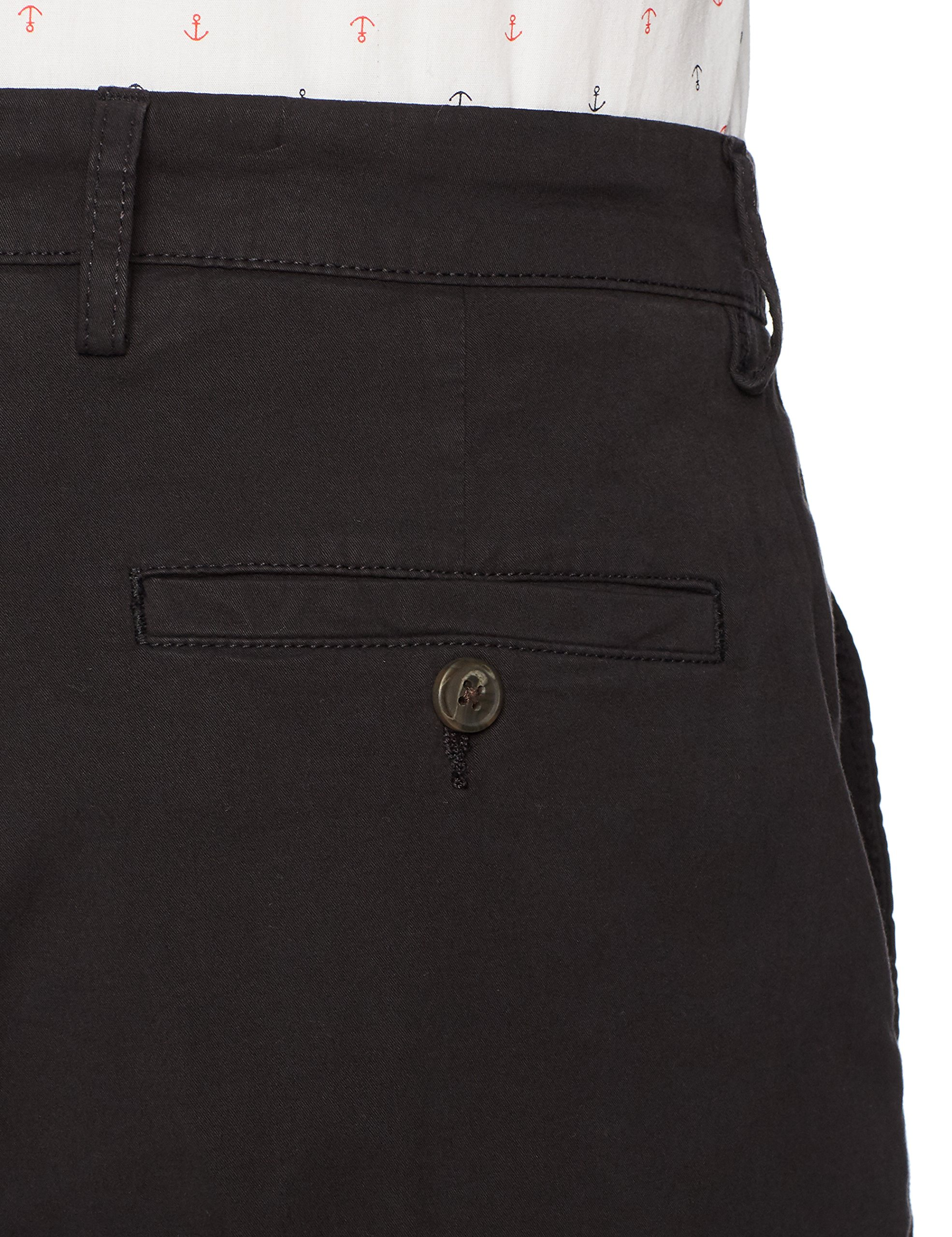 Goodthreads Men's 7'' Inseam Flat-Front Stretch Chino Short, Black, 32 by Goodthreads (Image #5)