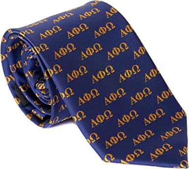 Alpha Phi Alpha Fraternity Three Greek Letters Neck Tie-New!
