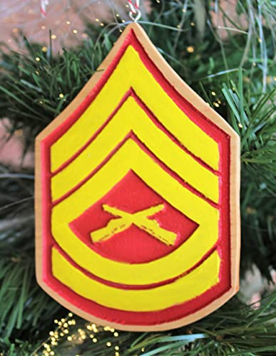 Personalized Marines USMC Christmas Ornament With Chevrons For Military Rank - Amazon.com: Personalized Marines USMC Christmas Ornament With