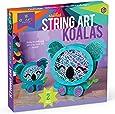 Craft-tastic – String Art Kit – Craft Kit Makes 2 Large String Art Canvases Stacked String Art Koalas Brown/a