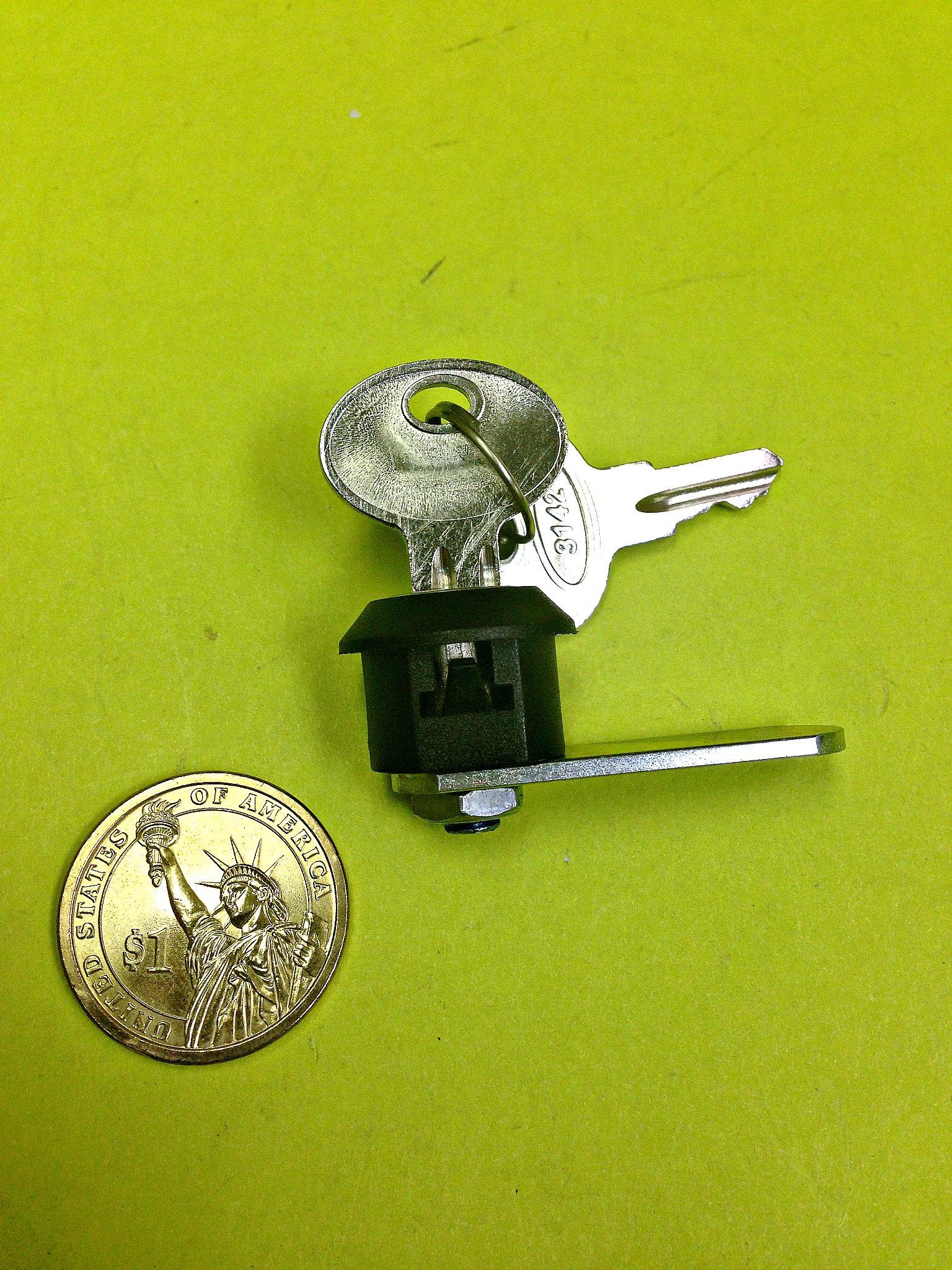 BOX OF 10, 45° Cam Lock Spring Cabinet Mailbox Desk Drawer Cupboard Locker 2 Keys