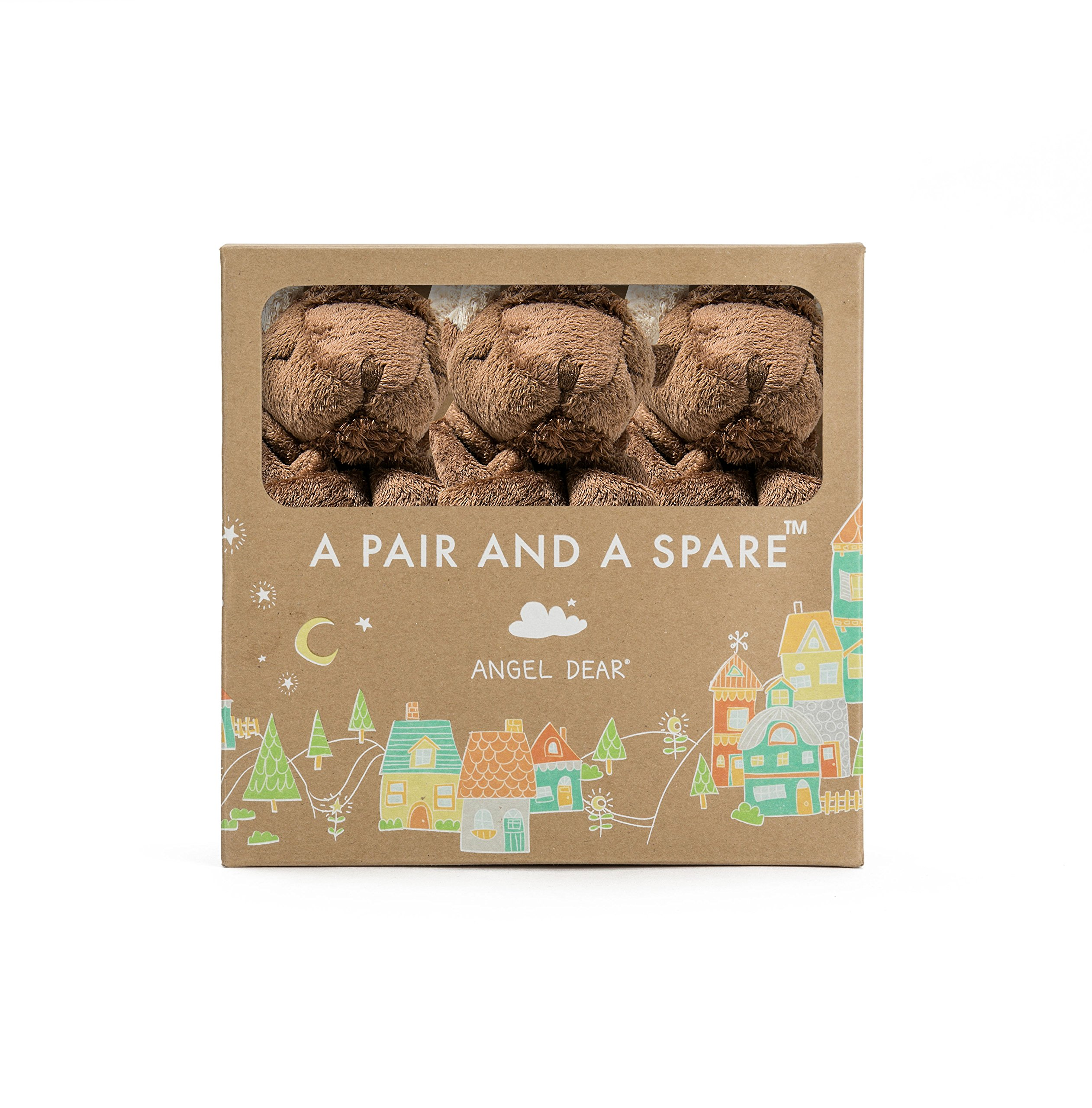 Angel Dear Pair and a Spare 3 Piece Blanket Set, Bison