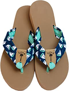 product image for Eliza B Sailboats Fabric Sandal with Almond Sole