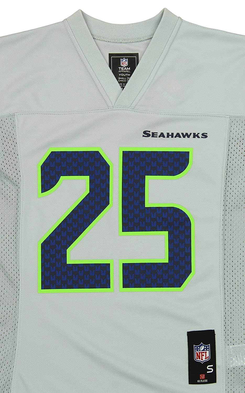 8885f78d Amazon.com : Outerstuff NFL Youth Seattle Seahawks Richard Sherman #25  Jersey, Gray : Sports & Outdoors