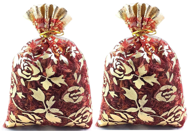 Buycrafty Pack of 2-10g DRIED ROSE PETALS Bag Tea Potpourri Wedding Decor Organic Herbal Craft Car Perfume
