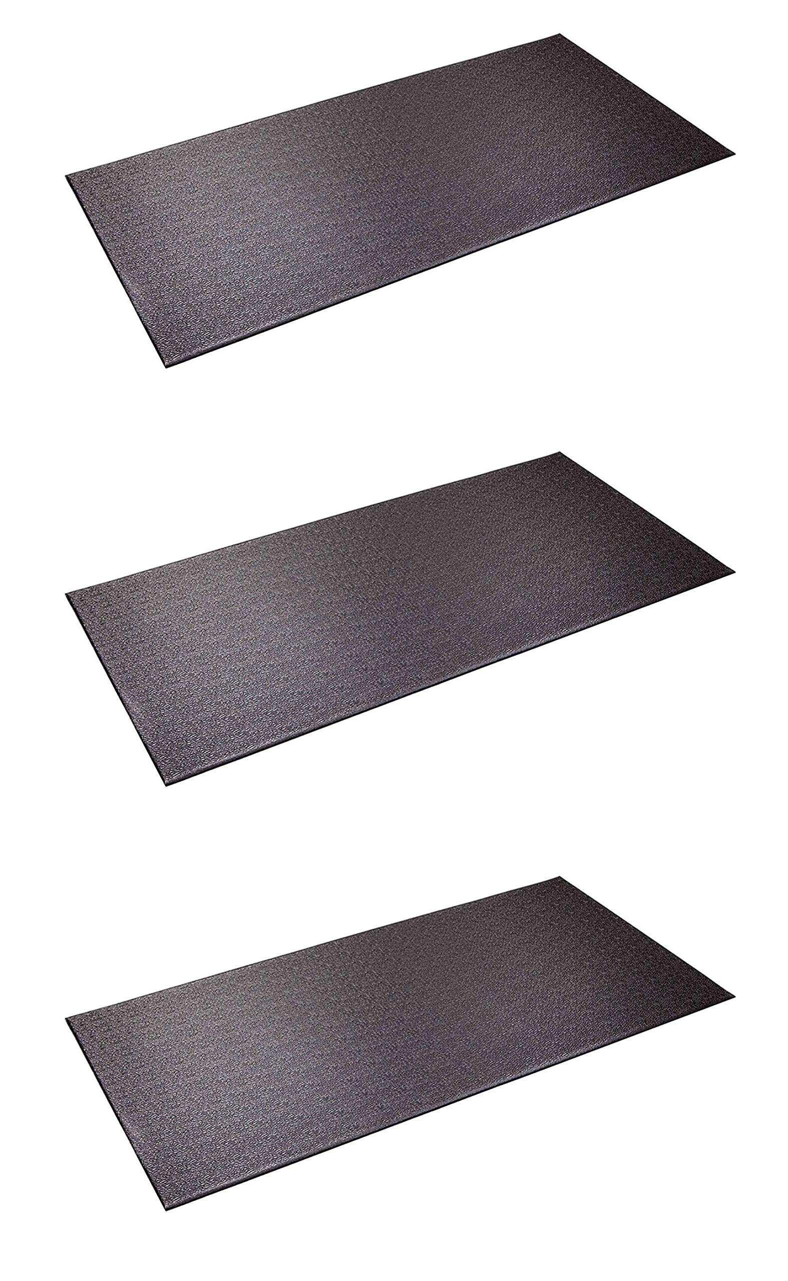 SuperMats Heavy Duty Equipment Mat 13GS Made in U.S.A. for Indoor Cycles Recumbent Bikes Upright Exercise Bikes and Steppers (2.5 Feet x 5 Feet) (30-Inch x 60-Inch) (Three Pack) by SuperMats