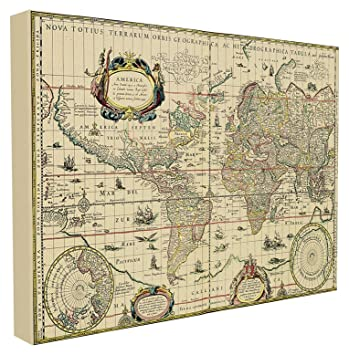 Amazon stupell home dcor antique explorer world map stupell home dcor antique explorer world map stretched canvas wall art 16 x 15 x gumiabroncs Images