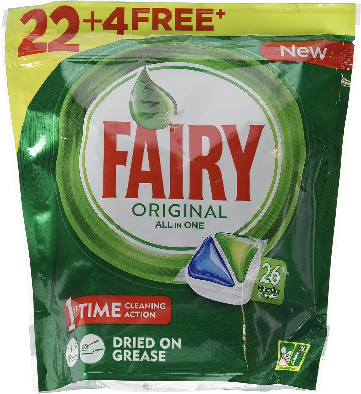 Fairy, Capsulas para Maquina Todo En Uno, 26 Lavados: Amazon.es ...