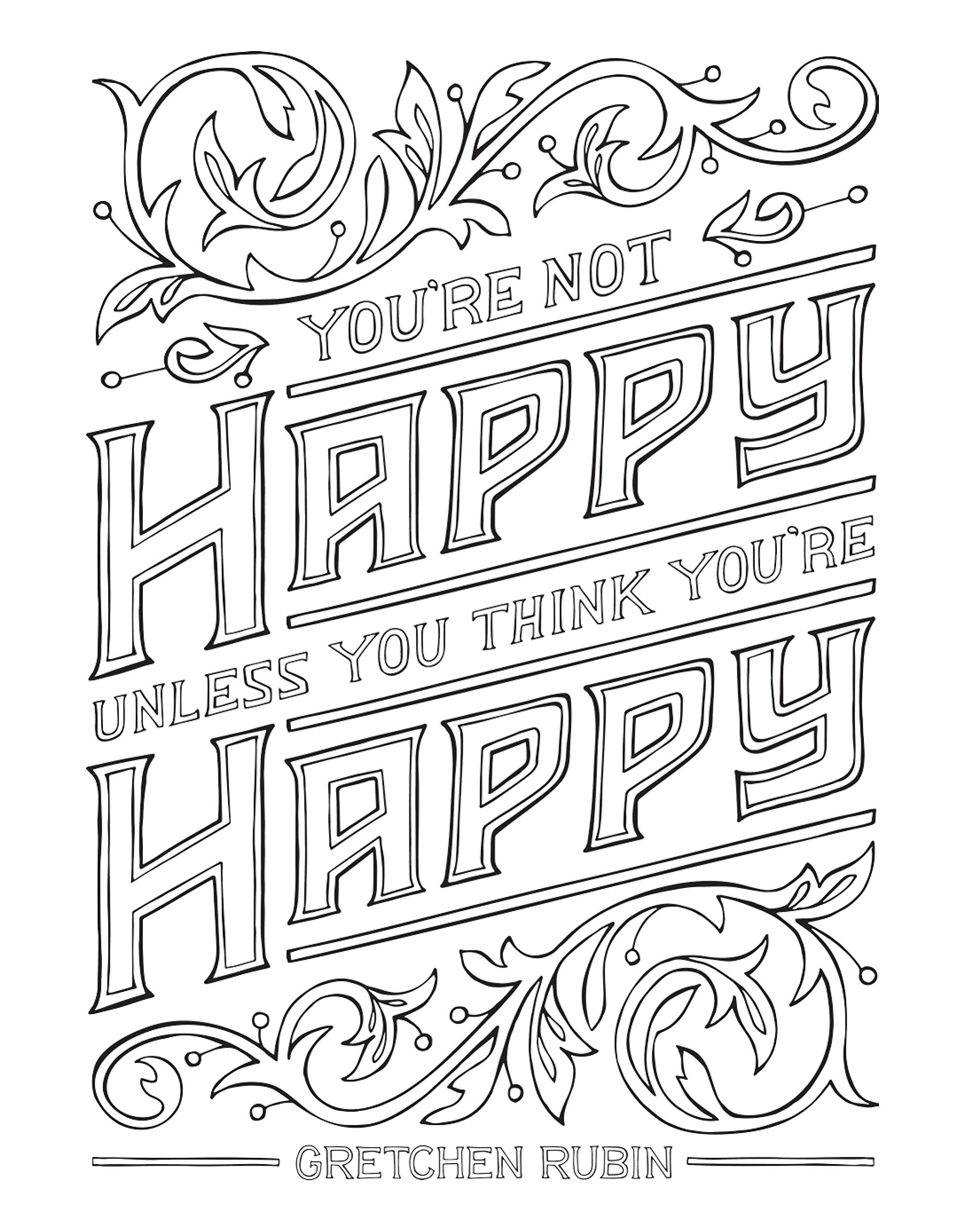 Amazon The Happiness Project Mini Posters A Coloring Book