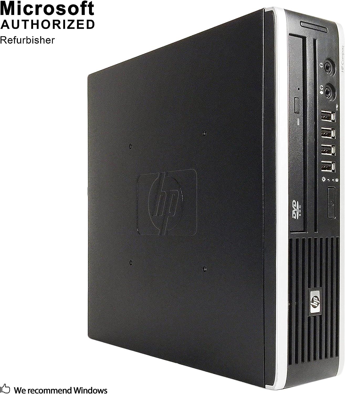 HP Elite 8000 Ultra Small Form Business Desktop PC, Intel Core 2 Duo E7600 3.06GHz, 4G DDR3, 500G, WiFi, BT 4.0, Windows 10 64 Bit-Multi-Language Supports English/Spanish/French(Renewed)