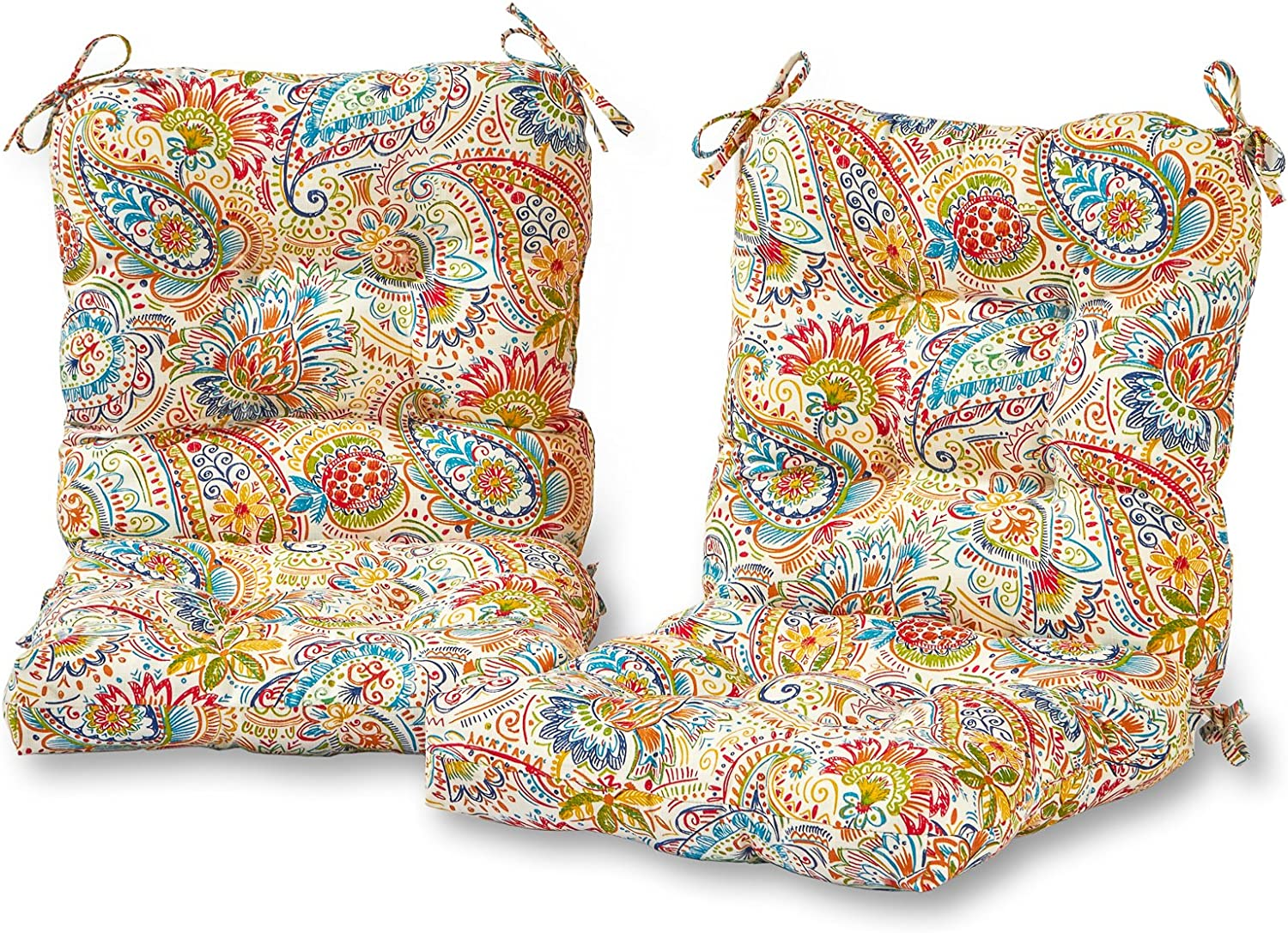 Greendale Home Fashions AZ6815S2-JAMBOREE Jubilee Outdoor Chair Cushion (Set of 2)