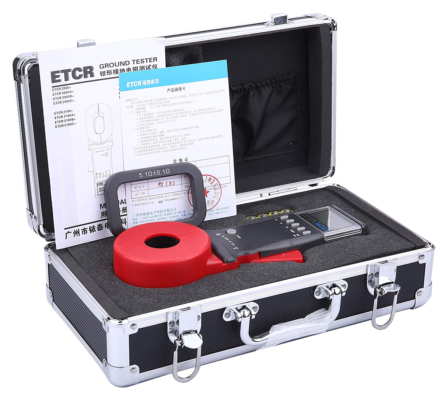 Image of ETCR ETCR2100A+ Digital Clamp Ground Earth Resistance Meter Tester 0.01-200Ω Clamp Meters