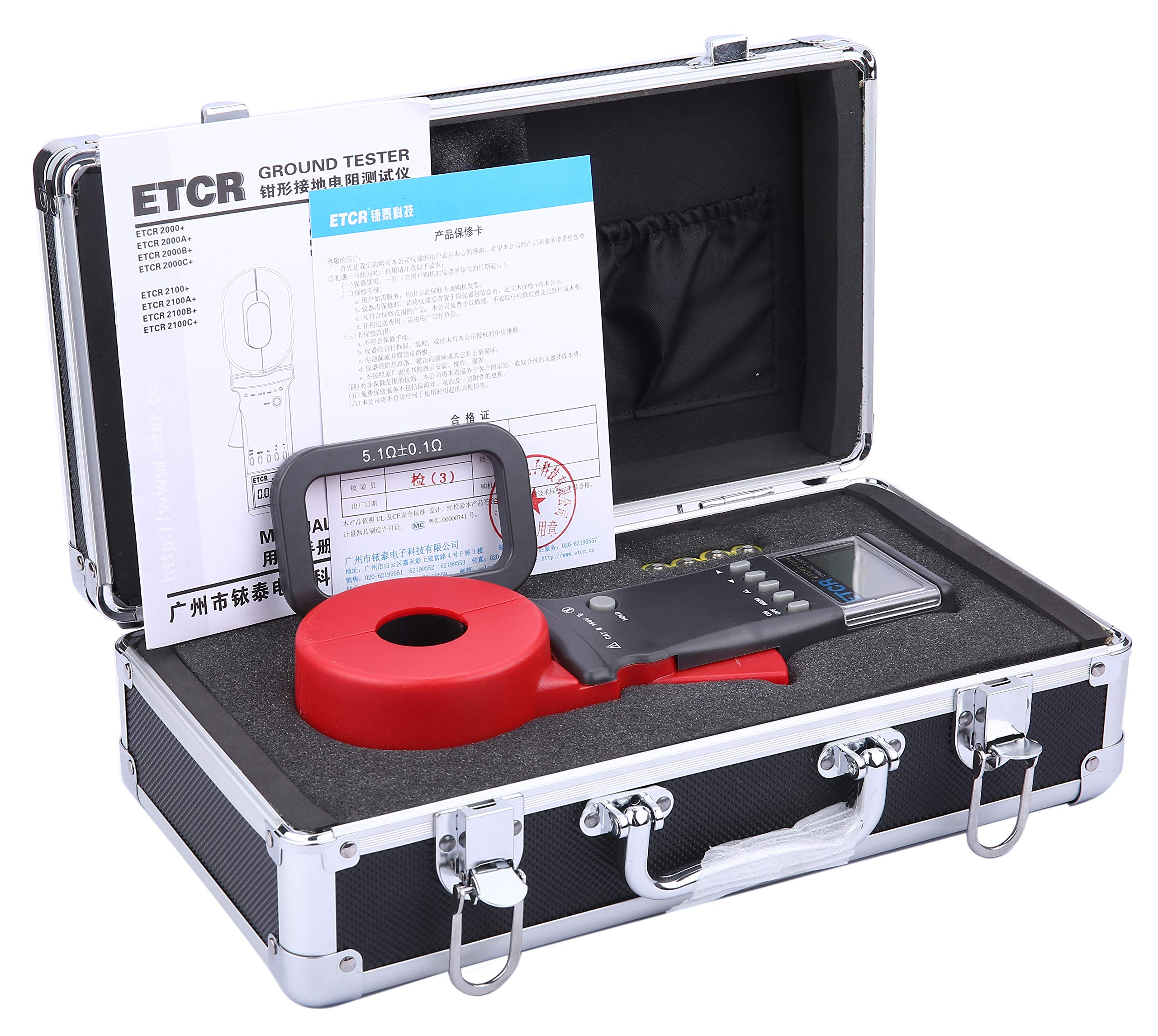 ETCR ETCR2100A+ Digital Clamp Ground Earth Resistance Meter Tester 0.01-200Ω