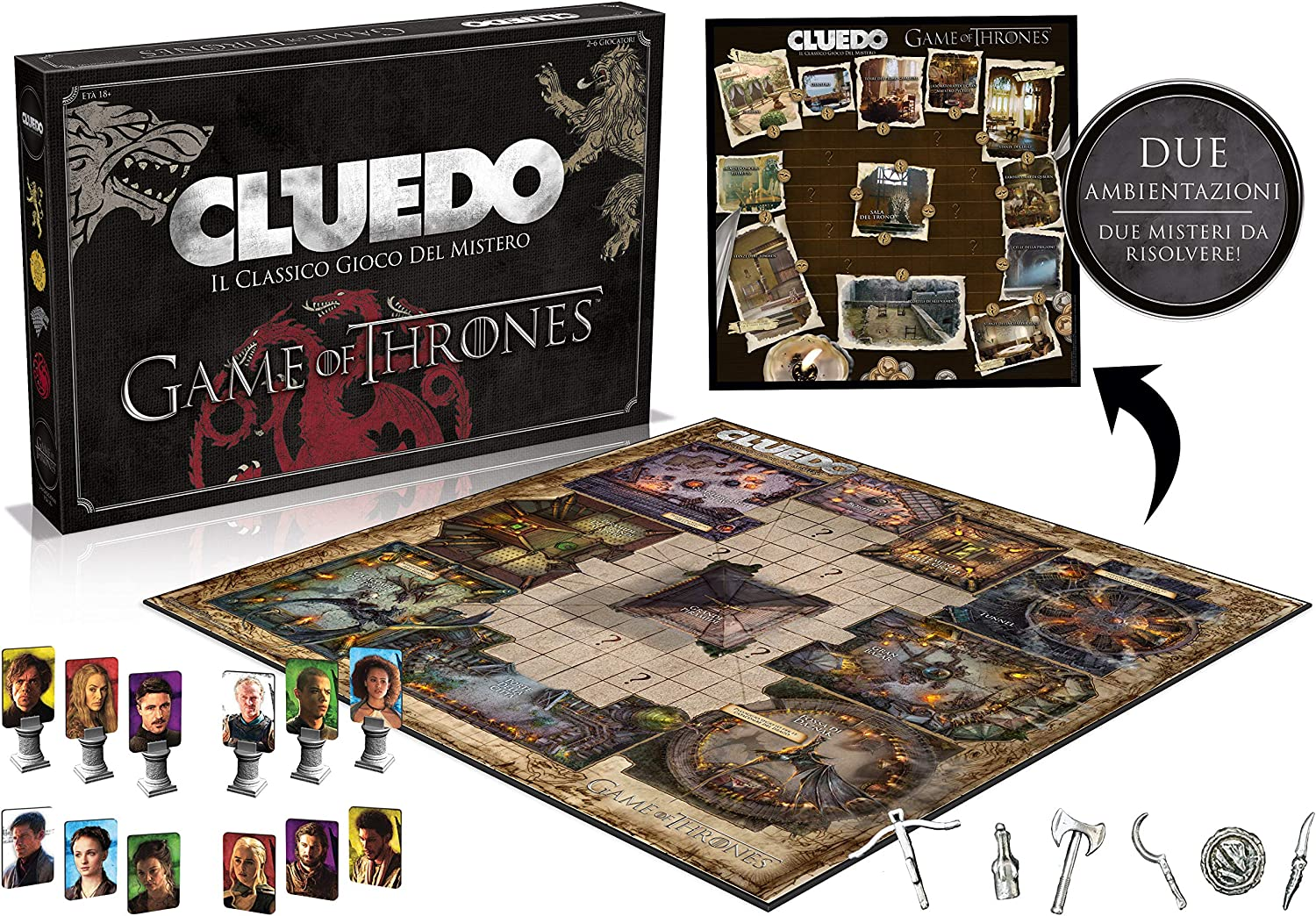 Winning Moves wm027410 – Cluedo Game of Thrones , color/modelo surtido: Amazon.es: Juguetes y juegos