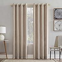 No 918 Chanson Brushed Velvet Grommet Window Curtain