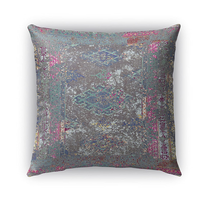 Grey//Purple//Blue Size: 16X16X6 - KAVKA Designs Cimarron Indoor-Outdoor Pillow, MGTAVC2032OP16 - NAVAJO Collection