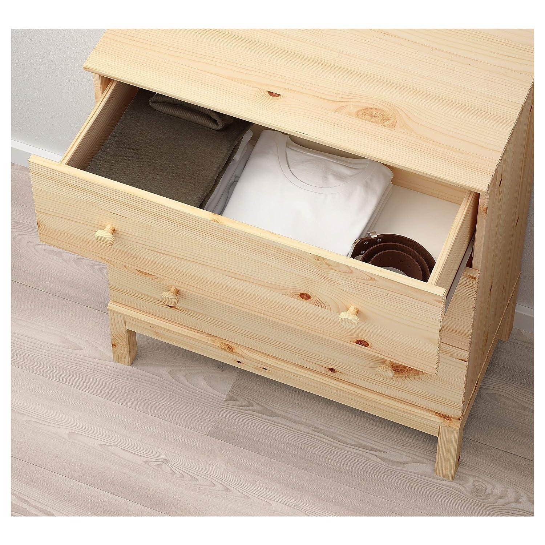 IKEA.. 303.607.03 Tarva - Cajonera con 3 cajones, Color Pino ...