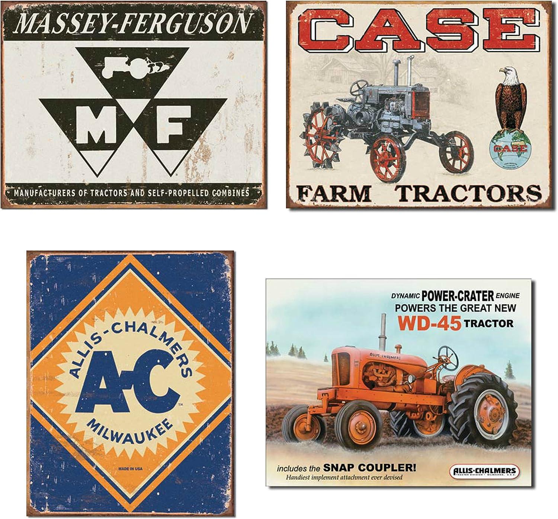 Massey Ferguson Logo Tractor Vintage Tin Metal Sign Farn Farming NEW