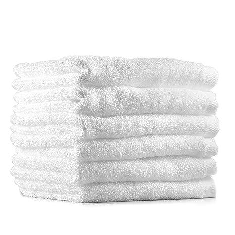 Pack de 12 toallas de cara de/Gamuza, algodón Toallitas 30 x 30 (