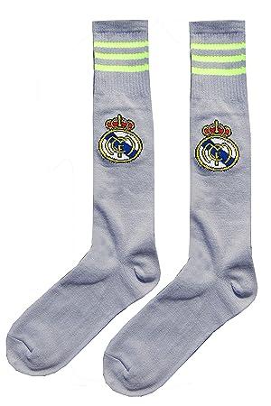 Real Madrid Kids jóvenes equipo de fútbol calcetines (gris)