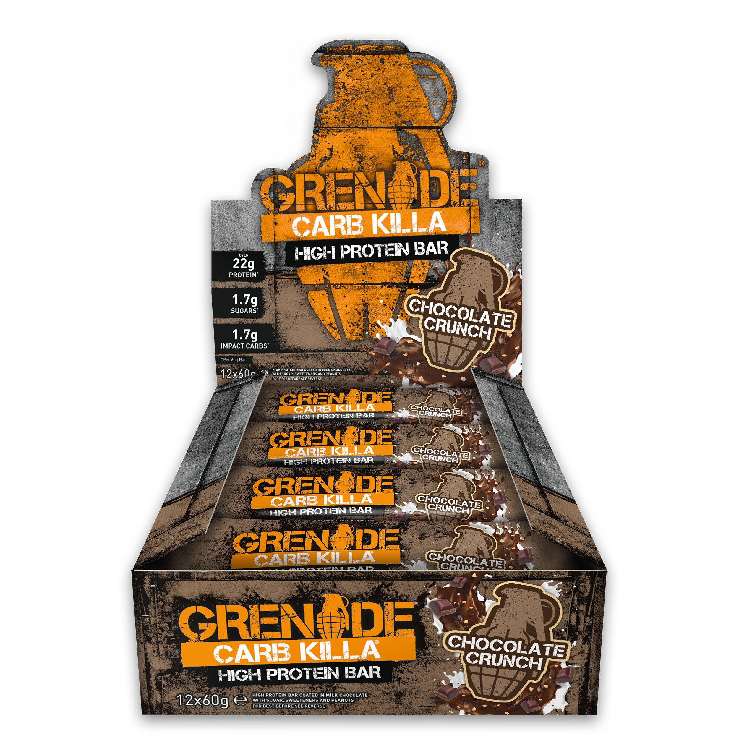 Grenade Carb Killa Bar, Chocolate Crunch, 12 Count