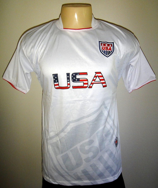 United States USAメンズDri Fitライト重量サッカージャージーシャツホワイトLarge B00KFX78AW