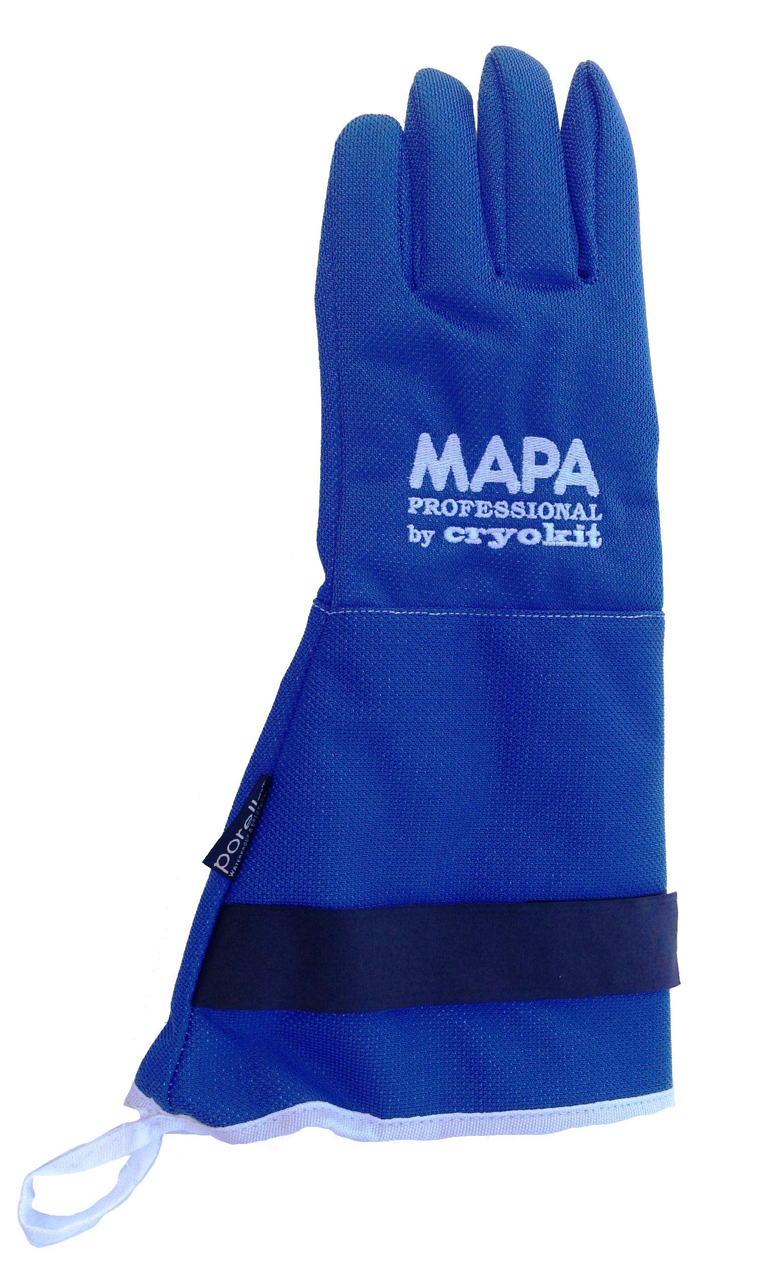 MAPA Professional CRYPLS213809 CRYOPLUS-2.1 Cryogenic Glove, (15''-LA), Size 9, PR 1, Blue