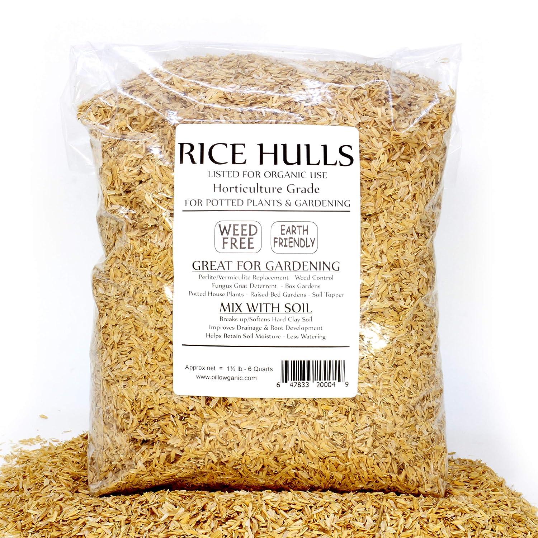 Rice Hulls - Organic Use – 1.5lb Bag - House Plants – Gardening - Chicken Bedding Nesting