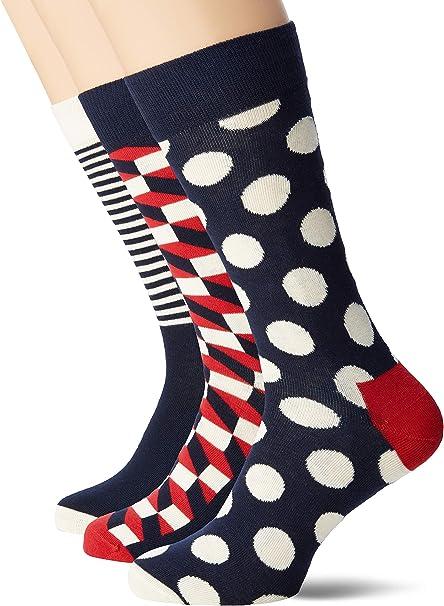 Happy Socks Holiday Big Dot Gift Box Calcetines (Pack de 4) para Hombre: Amazon.es: Ropa y accesorios