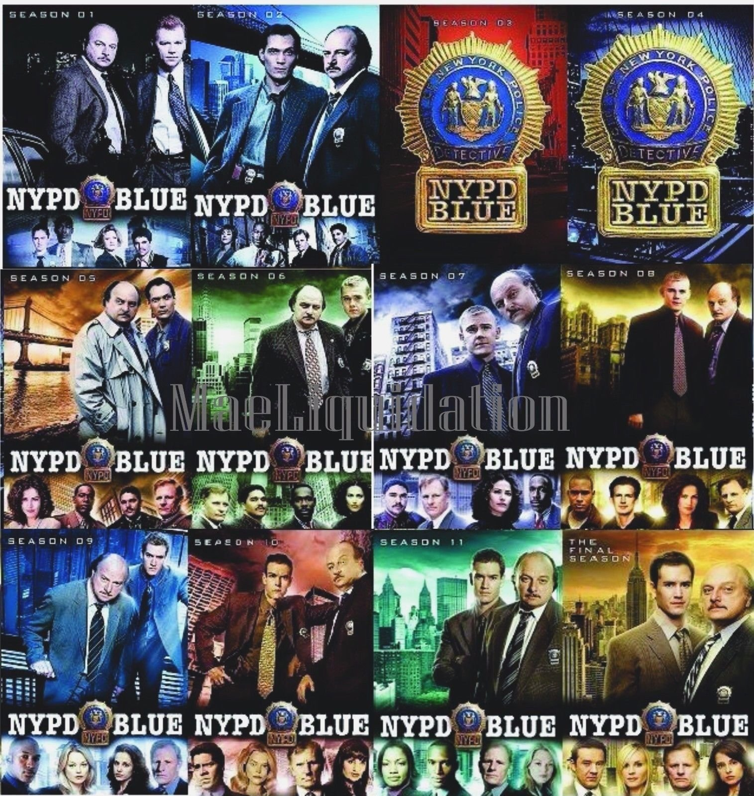 NYPD Blue: The Complete Series Seasons 1-12 DVD by Studio1