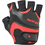 Harbinger Men's FlexFit Weightlifting Gloves with Flexible Cushioned Leather Palm (Pair)