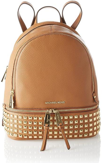 Michael Kors Rhea Zip - Bolso mochila de Piel para mujer Marrón Marrone (Acorn): Amazon.es: Zapatos y complementos