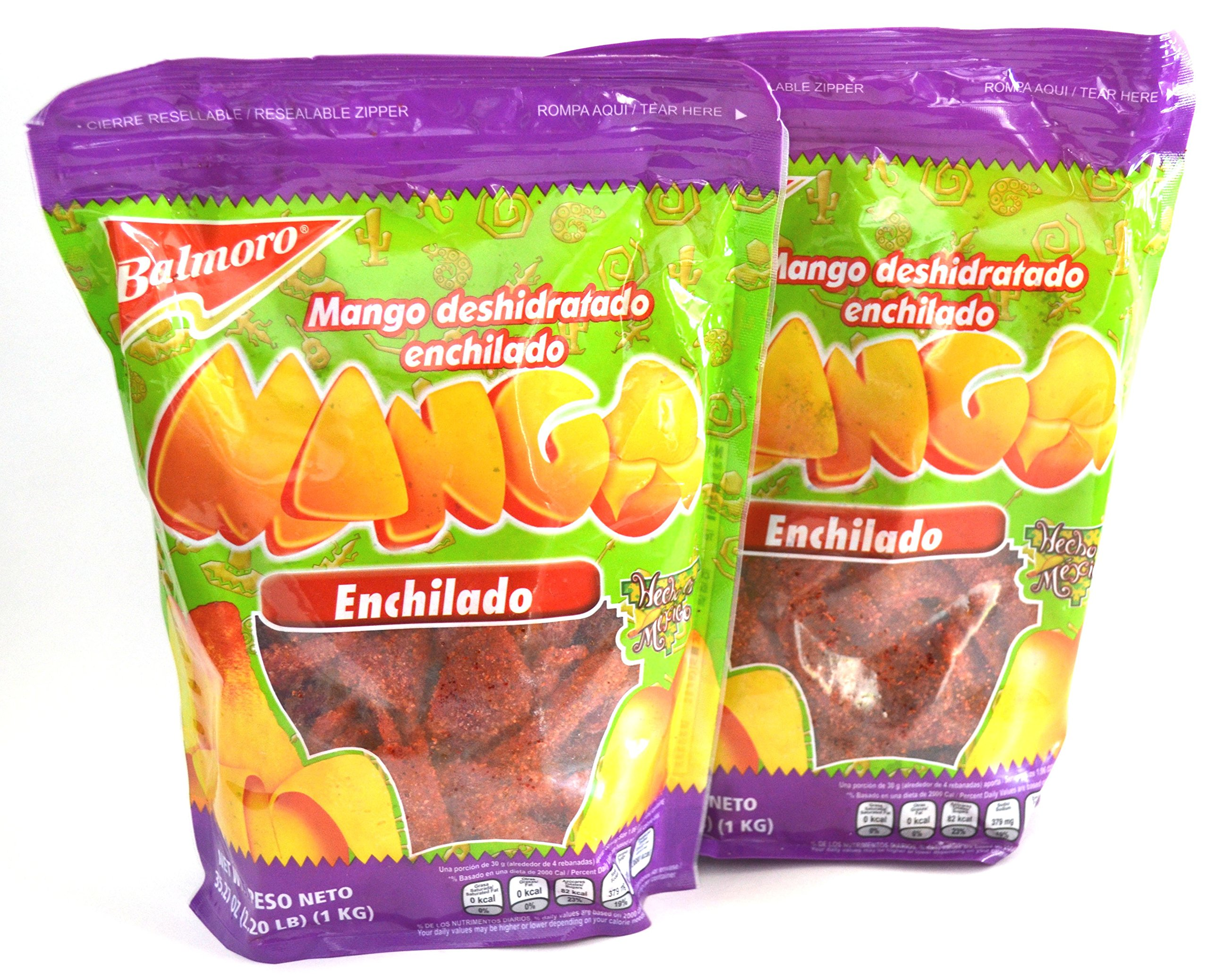 2 pack Balmoro Spicy Dried Mango (mango enchilado) by Mexico2Us