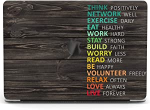 Wonder Wild Case For MacBook Air 13 inch Pro 15 2019 2018 Retina 12 11 Apple Hard Mac Protective Cover Touch Bar 2017 2016 2020 Plastic Laptop Print Motivation Wood Inspirational Quote Colorful Saying