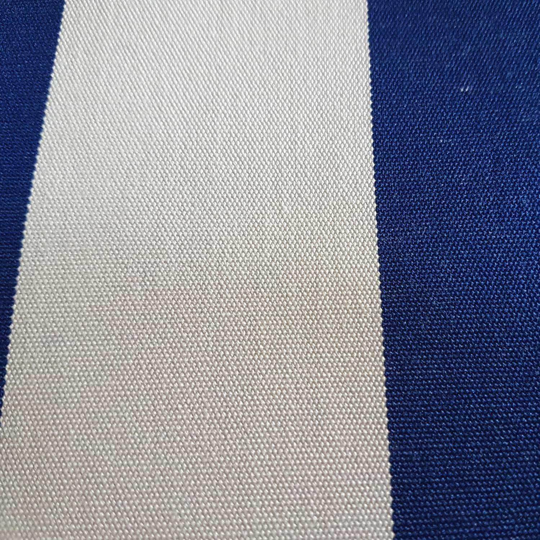 Dralon Meterware Blockstreifen Stoff Outdoor Textilgewebe blau beige gestreift