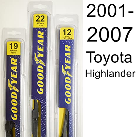Amazon.com: Toyota Highlander (2001-2007) Wiper Blade Kit - Set Includes 22