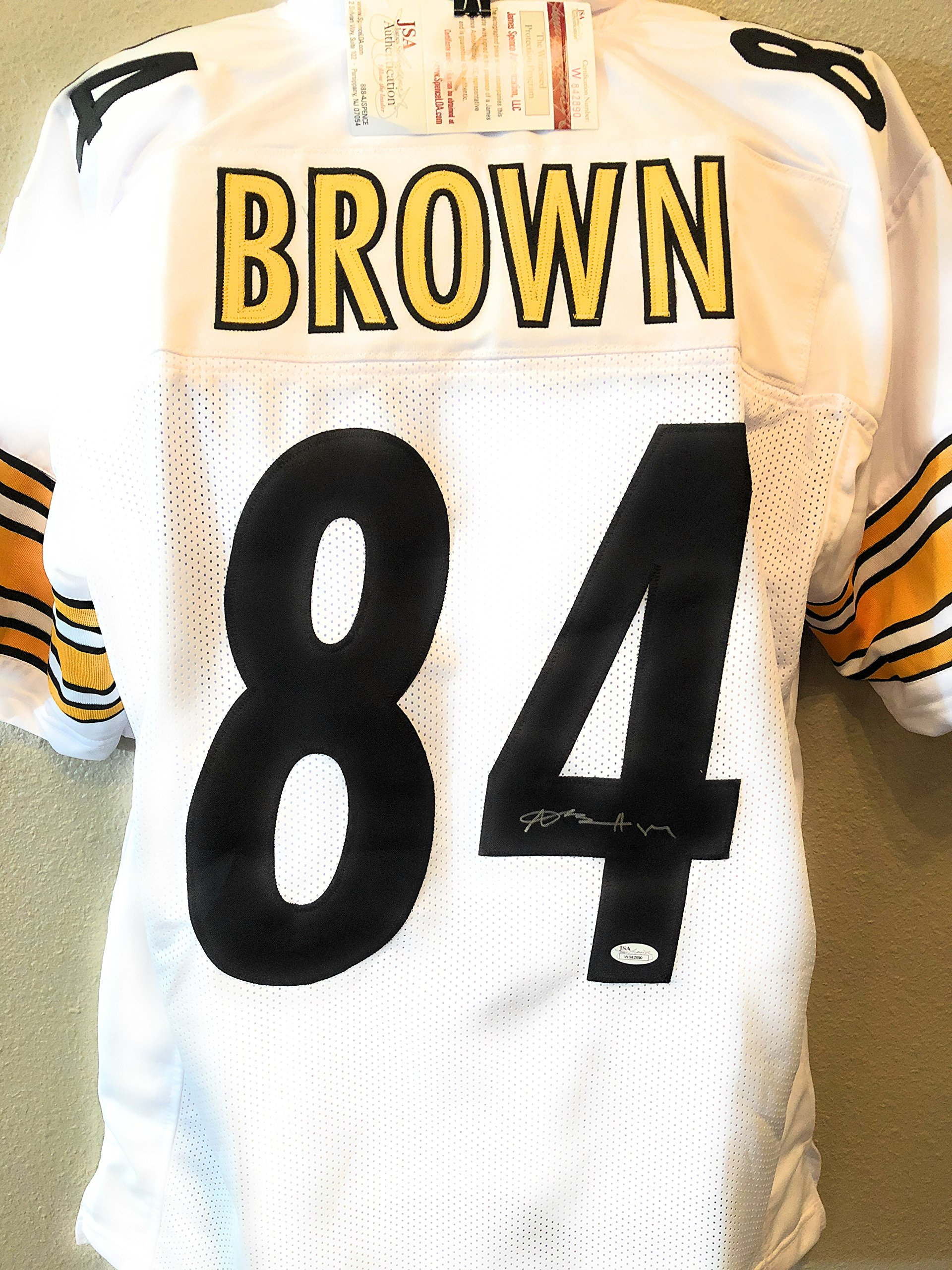 Antonio Brown Pittsburgh Steelers Signed Autograph White Custom Jersey JSA Witnessed Certified
