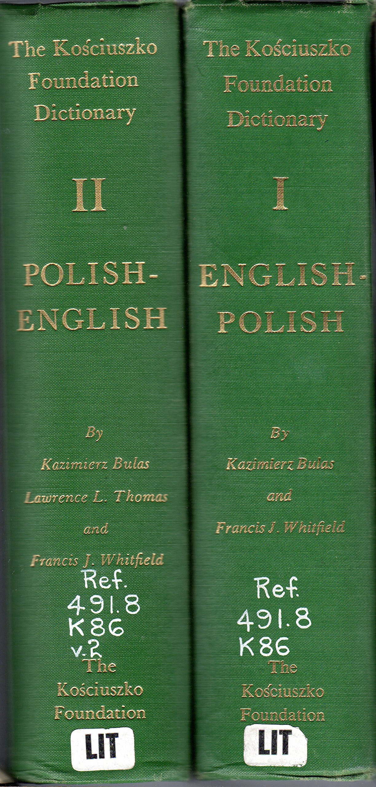 The Kosciuszko Foundation Dictionary: English-Polish, Polish