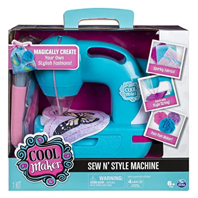 Cool Maker - Sew N' Style Sewing Machine with Pom-Pom Maker Attachment (Edition May Vary), 11: Toys & Games