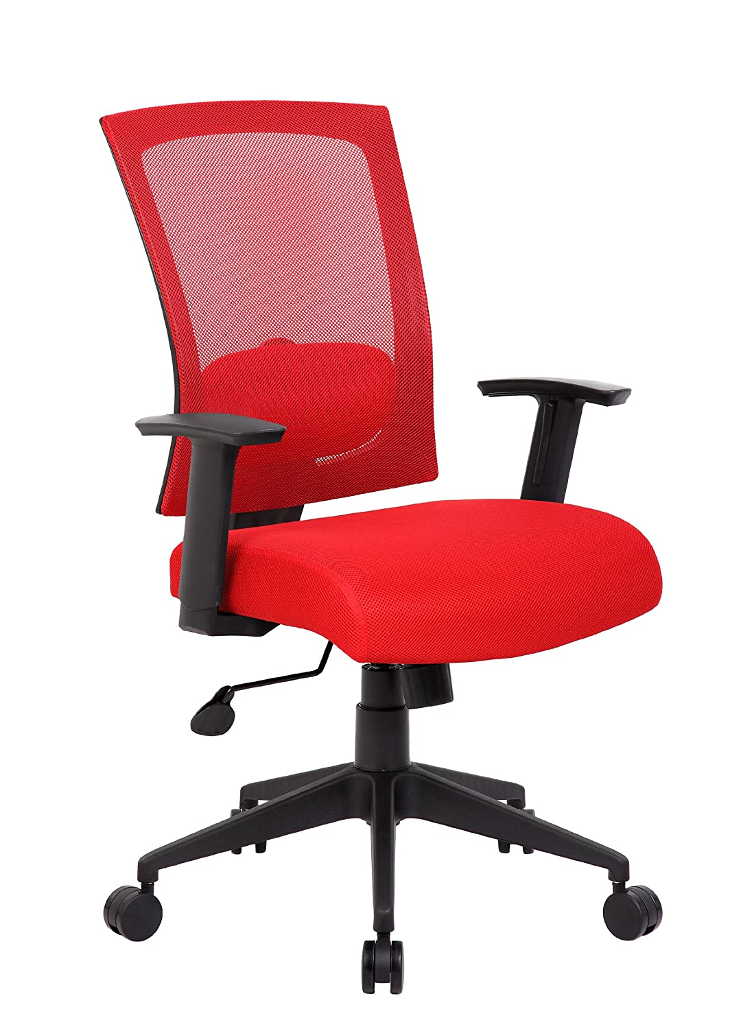 amazon com boss office products b6706 rd mesh back task chair in