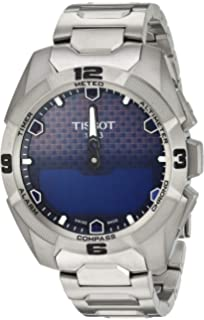 Tissot Unisex T0914204404100 Touch Collection Analog Swiss Quartz Titanium Silver Watch