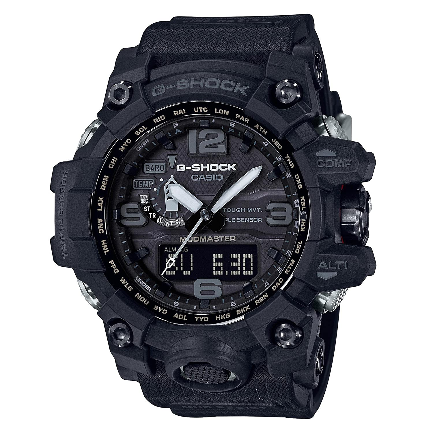 Amazon.com: Mens Casio G-Shock Triple Sensor Mudmaster Black Watch GWG1000-1A1: Watches